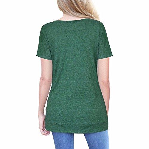Camisas Mujer Tallas Grande, EUZeo Primavera Otoño Blusa de Las Mujeres, Básica Camiseta de Manga Larga Elegantes Blusa de Verano Oficina de Tops Camiseta Casual T- Shirt Primavera Otoño