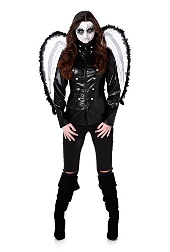 Fallen Dark Angel Damen Halloween Spooky Frauen Erwachsene Kostüm Neu (Small European 36 - 38 (UK 8 - 10)) (Kostüm Gefallenen Angel Dark)