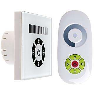 12V 24V LED Berührungsempfindliche Dimmer Schalter Kontrolleinheit Regler Wandmontage Funkfernbedienung für Einfarbige LED Bänder Lichtstreifen Leuchtstreifen Steuerung Helligkeit Geschwindigkeit