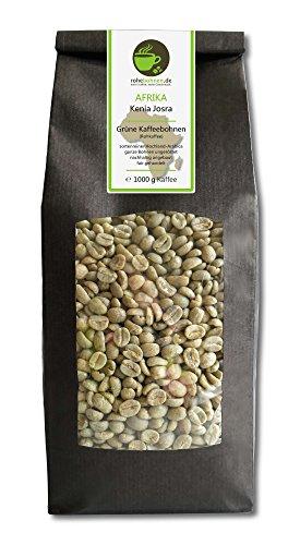 Rohkaffee - Grüner Hochland Kaffee Kenia Josra (grüne Kaffeebohnen 1000g)