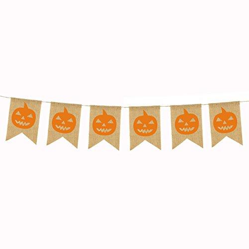 e, Sackleinen-Banner für Hochzeit, Party, Dekoration, Happy Birthday, Abschlussfeier - Yellow Pumpkin ()