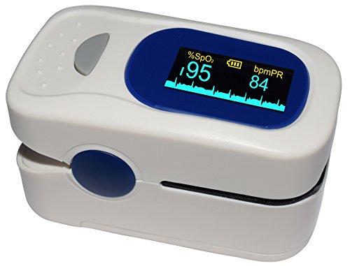 [Jumper® Medical] - Oxímetro de pulso, aprobado por la FDA, pantalla OLED, para frecuencia del pulso (PR) y la saturación...