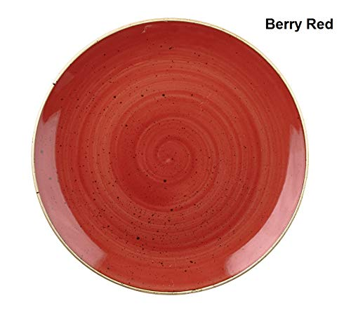 Churchill Stonecast -Coupe Bowl Schüssel- Durchmesser: Ø18,2cm, Farbe wählbar (Berry Red) Red Berry Bowl