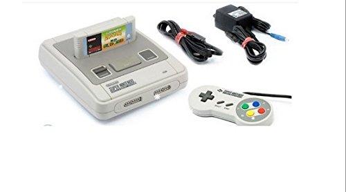 Original Super Nintendo / SNES Konsole - deutsche PAL Version (komplett Set und sofort spielbereit, mit allen Kabeln und 2 NEUEN remake Controllern) OHNE Originalkarton und OHNE Spiele, Super Nintendo Entertainment System