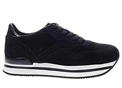 Scarpe Sneaker Hogan Shoes 10% H222 Italy Donna Nero HXW2220M468I3UB999