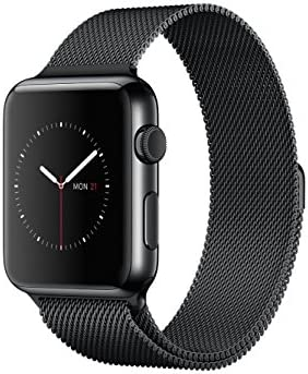 Apple Watch 38 mm (1ª Generación) - Smartwatch iOS con caja de acero inoxidable en negro espacial (pantalla 1.32