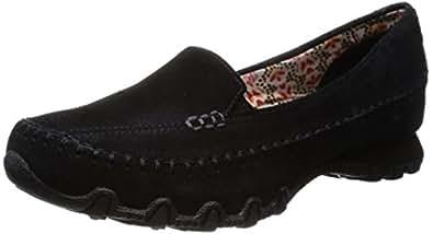 Skechers Relaxed Fit Bikers Pedestrian Women's Walking Shoes - Black (Black) 2 UK (35 EU)