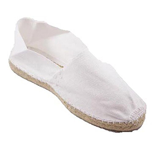Alpargatas de Esparto Plana Made in Spain en Blanco Talla 43