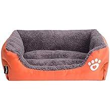 Flairstar Cama de Perro Gato de Mascotas Otoño Invierno Cama Peluche Cueva Gato Perro