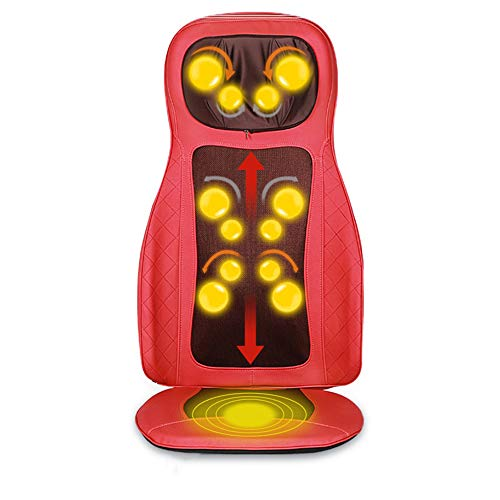 Yuasia regolabile sedile massaggiante e vibrante, shiatsu cuscino seduta impastante elettronico massaggiante massaggiatore,alleviare dolore collo schiena spalla corpo,adatto per auto casa ufficio