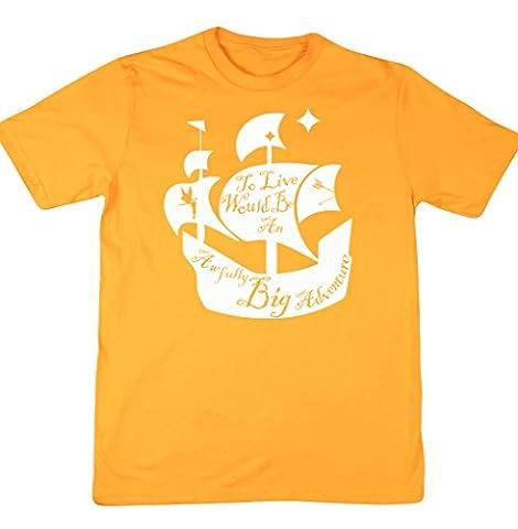 HippoWarehouse Herren T-Shirt Gr. xxl, Gelb -