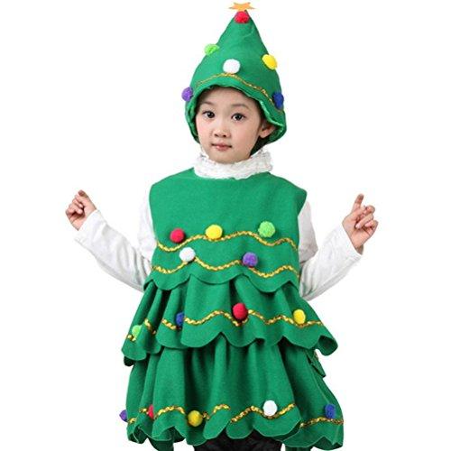 ARAUS Costume della Santa del Partito Albero di Natale Cosplay Ragazza Bimbo Vestito 2 Pezzi 1-14 Anni