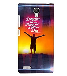 PrintVisa Quotes & Messages Dreams 3D Hard Polycarbonate Designer Back Case Cover for Xiaomi Redmi Note