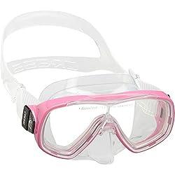 Cressi Ondina Masque de Plongée Enfant - Masque de Snorkeling Enfant enfant Transparent/Rose