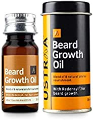Ustraa Beard Growth Oil - 35ml - More Beard Growth, With Redensyl, 8 Natural Oils including Jojoba Oil, Vitami