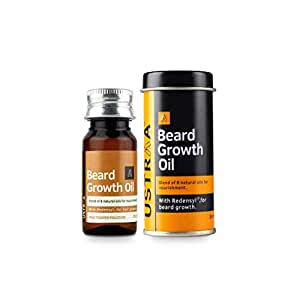 Ustraa Beard Growth Oil - 35ml - More Beard Growth, With Redensyl, 8 Natural Oils including Jojoba Oil, Vitamin E, Nourishment & Strengthening, No Harmful Chemicals