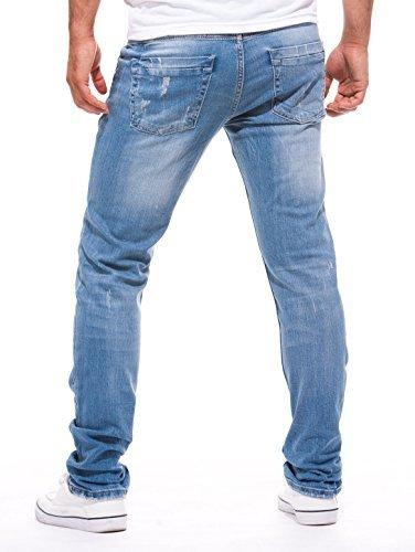 LEIF NELSON Herren Jeans Jeanshose LN1205 Dunkel Blau