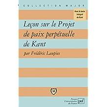 """Leçon sur """"Projet de paix perpetuelle"""" de Kant"""