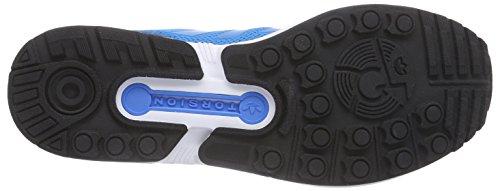 adidas ZX Flux, Chaussures de course homme Bleu - Blau (Solar Blue2 S14/Core Black/Ftwr White)