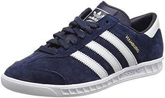 adidas Hamburg Herren Laufschuhe, Blue (Collegiate Navy/Ftwr White/Gold Met), 43 1/3 EU