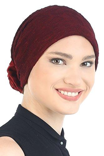 Cappello Broccato Con Mano Rosa per le Donne (Borgogna (Borgogna Brocade)