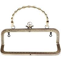 Baoblaze 20cm Metallo Cornice Quadrata Perla Perlina Chiusura Accessori per  Borsa Fai Da Te - bronzo c4f89b67bf9
