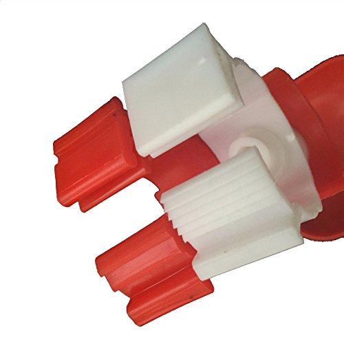 Adhere To Fly 6pcs Automatische Hühnchen Nippel Trinker Edelstahl Kunststoff Landwirtschaft Geflügel Wasser trinken Feeder - 5