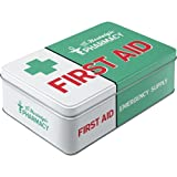 Nostalgic-Art 30740 Nostalgic Pharmacy - First Aid Green, Vorratsdose Flach