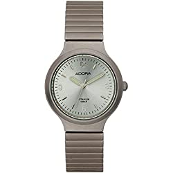 Damenuhr Armbanduhr Quarzuhr Analoguhr Titanium mit Zugband Adora 29105, Variante:02