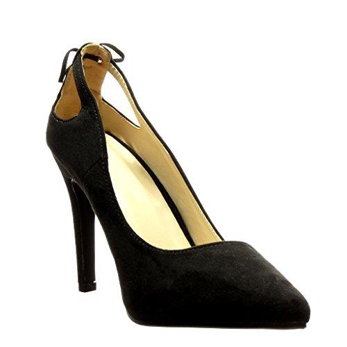 Angkorly Damen Schuhe Pumpe - Stiletto - Sexy - Bommel - Fransen Stiletto High Heel 10 cm Schwarz