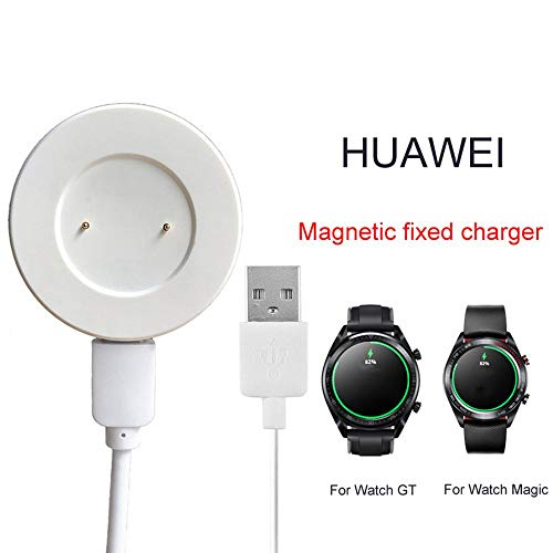 TEEPAO Caricabatterie Huawei Watch Magnetic, Wireless Smart Fit Porta Caricatore da Culla per Huawei Watch GT/Watch Magic (Bianco)