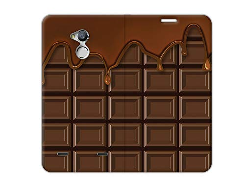 etuo Handyhülle für ZTE Blade V7 Lite - Hülle, Handy Flip Case - Schokolade