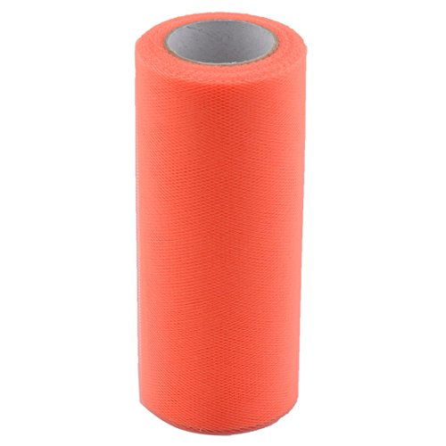 x 25 Yards Orange Polyester Hochzeit Party Tisch DIY Tülle Spule Rolle (Tüll Halloween Kranz)