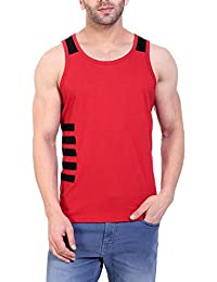 LIFEIDEA Men Vest By Men Vest Sleeve | Men Vest Design |Men Vest Inner | Men Vest Half Sleeve [Black And Red Colour]