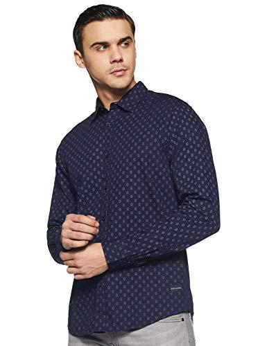 Scotch & Soda Herren Regular FIT-Classic All-Over Printed Shirt Freizeithemd, Mehrfarbig (Combo C 0219), Medium (Herstellergröße: M)