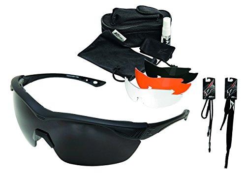 Halls Pro Edge Edge Tactical Safety Eyewear, Overlord Kit, 4 Vapor Shield Gläser Schieß-Brille