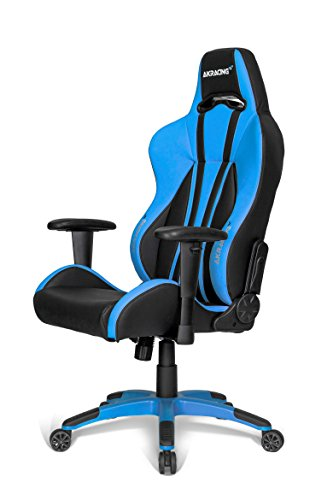 AKRacing 016-614 Premium Plus Sedile Gioco, Pelle, Blu