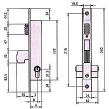 Cvl - Cerradura Puerta Metalica 1990V 20/0