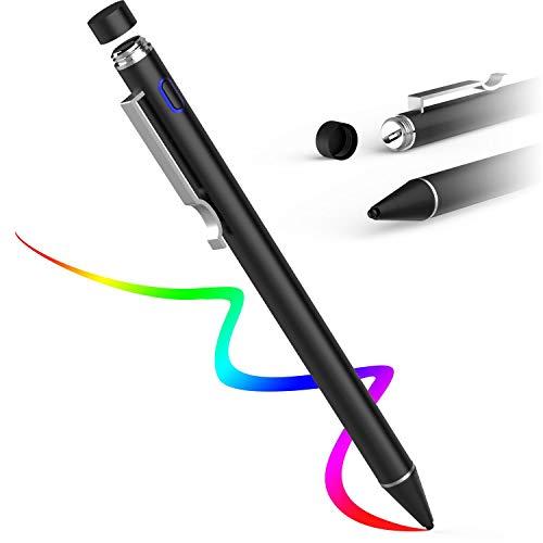 AWAVO iPad Stift für Apple Pencil Touchscreens, wiederaufladbare Stifte mit 1,6 mm Kunststoffspitze, kompatibel mit Apple iPad/Samsung IOS und Android Tablet