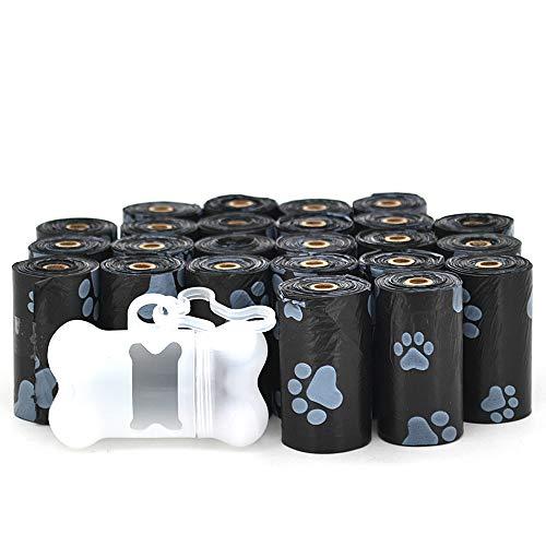 Dick-designer (Best Pet Supplies-Designer Dick Abfall Kotbeutel mit Gratis Spender-360Staubbeutel, Black w/White Paws)