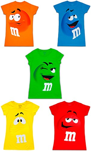 M&M's Chocolate Candy Character Face Juniors T-Shirt
