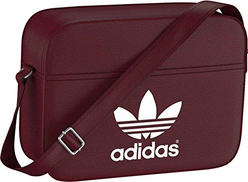 adidas Tasche Airl Classic, Rust Red F15-St/White, 12 x 38 x 28 cm, 12 Liter, AB2710 (Inspiriert Vintage Handtaschen)
