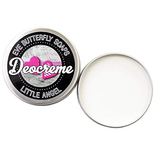 Deocreme Little Angel - Regular Size 85 g | aluminiumfrei, Duft nach Babypuder, vegan