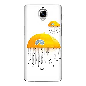 CrazyInk Premium 3D Back Cover for Oneplus 3T - Yellow Umbrella