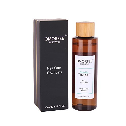 OMORFEE Nutrify Hair Oil (Anti hair fall), Hibiscus,False Daisy, Rosemary Essential Oil, 150 ml