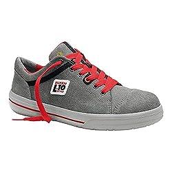 ELTEN Sicherheitsschuhe VINTAGE Low ESD S3, Herren, sportlich, Sneaker, leicht, grau/rot, Stahlkappe - Größe 43