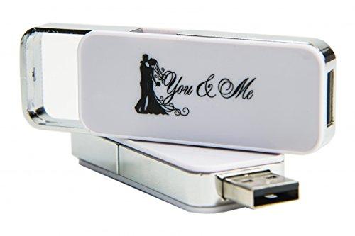 """Hochzeit USB-Stick """"You & Me"""". Size 32GB"""