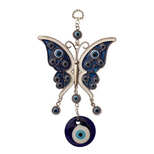 OUNONA Colgante metal forma mariposa piedra azul azuza