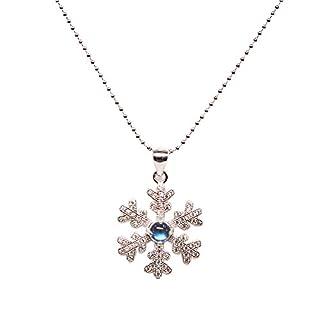 Luna Azure Sterling Silber Mondstein Schneeflocke Halskette 40,6 cm-18