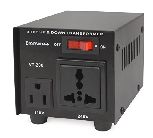 Bronson++ VT 200 - Convertitore 110 Volt - Trasformatore di voltaggio USA - Riduttore / Adattatore di tensione 200 Watt - Bronson 110V 200W